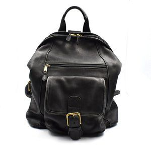 Coach Women Vintage Leather Backpack Black